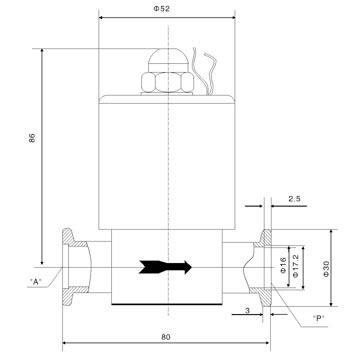 电磁高真空挡板阀外形及连接尺寸
